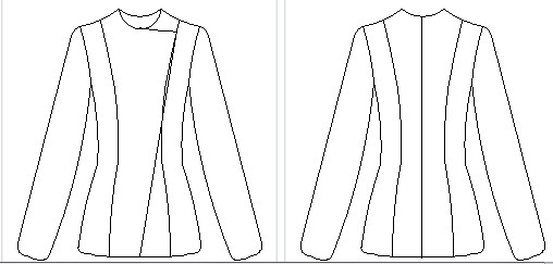 The pattern for the Perfecto jacket