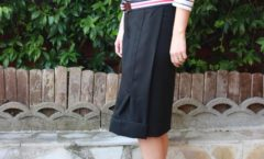 A black, very black skirt