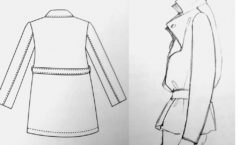 The pattern of the back-seamed sleeve